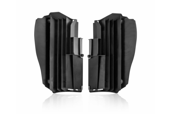Motocross radiator louvers for Yamaha black - Radiator Louvers - AC02458 - UFO Plast