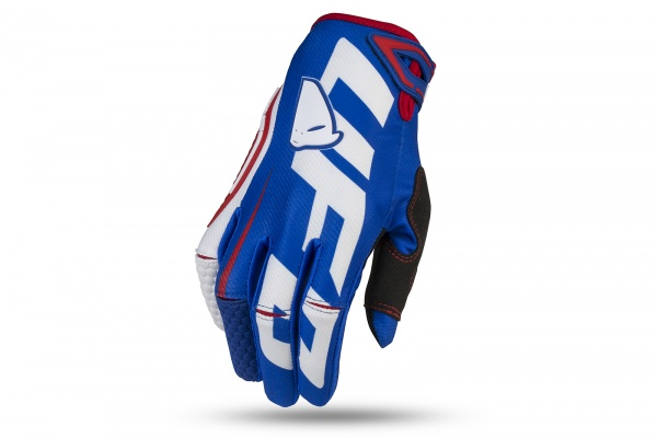 Motocross Blaze gloves blue and white - Gloves - GU04477-C - UFO Plast