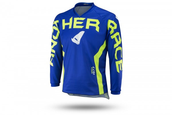 Motocross Another Race jersey for kids blue and neon green - NEW PRODUCTS - MG04485-C - UFO Plast