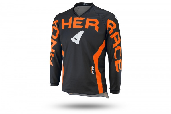 Motocross Another Race jersey for kids black and neon orange - NEW PRODUCTS - MG04485-FFLU - UFO Plast