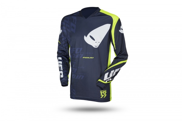 Motocross Indium jersey blue and neon green - Jersey - MG04470-N - UFO Plast