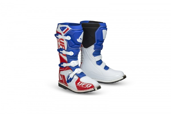 Motocross Obsidian boots blue, white and red - Boots - BO006-BC - UFO Plast