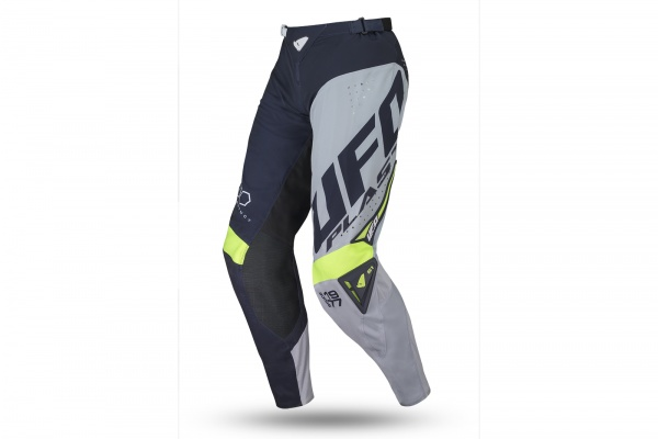 Motocross slim Frequency pants blue, gray and neon yellow - Pants - PI04467-N - UFO Plast