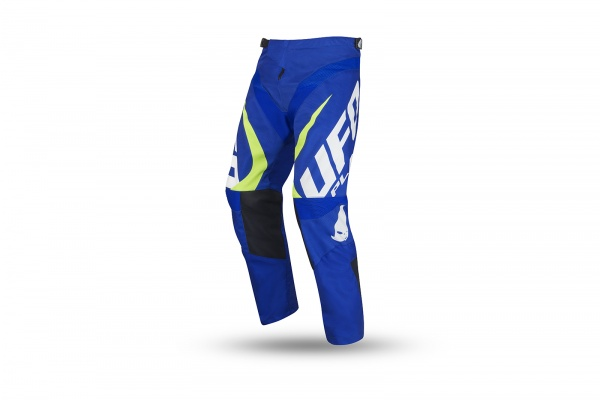 Motocross Another Race pants blue and neon yellow for kids - NEW PRODUCTS - PI04484-C - UFO Plast