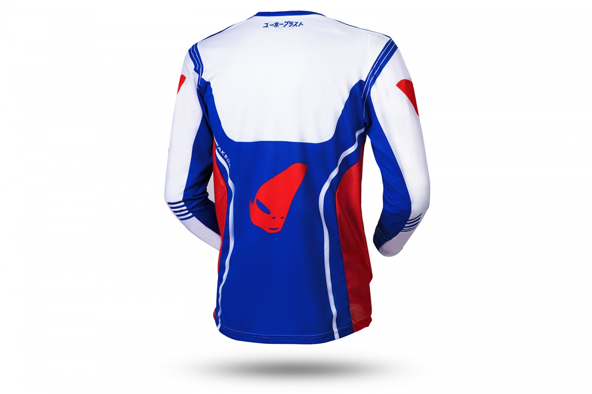 Motocross Takeda jersey white, blue and red - NEW PRODUCTS - MG04502-CB - UFO Plast