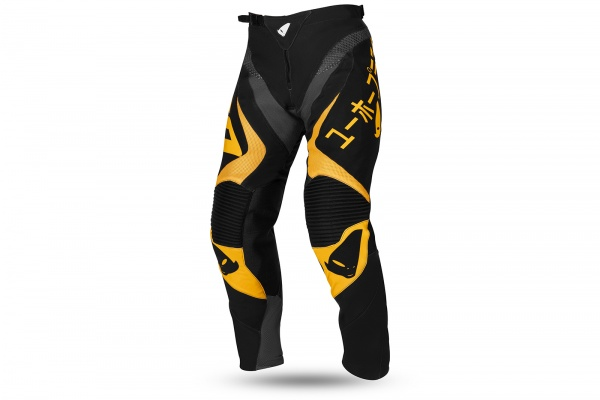 Motocross Takeda pants black and yellow - NEW PRODUCTS - PI04503-D - UFO Plast