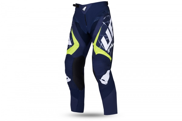 Motocross Bullet pants blue and noen yellow - NEW PRODUCTS - PI04505-N - UFO Plast
