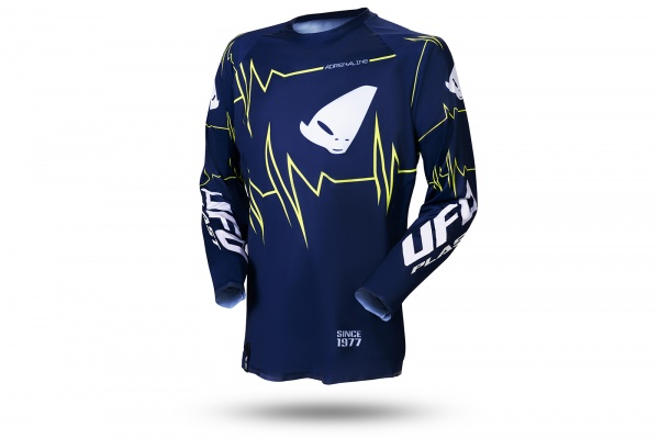 Slim Adrenaline motocross jersey blue and neon yellow - NEW PRODUCTS - MG04488-N - UFO Plast