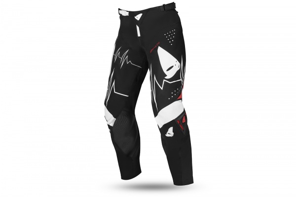 Motocross Slim Adrenaline pants black, white and red - NEW PRODUCTS - PI04486-K - UFO Plast
