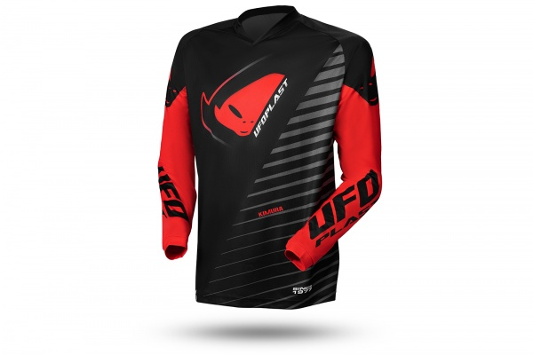 Motocros Kimura jersey black and red - NEW PRODUCTS - MG04490-KB - UFO Plast