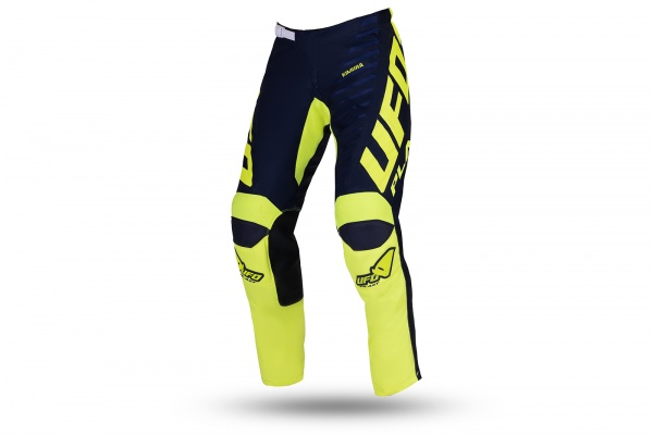 Motocross Kimura pants for kids blue and neon yellow - NEW PRODUCTS - PI04495-NDFLU - UFO Plast